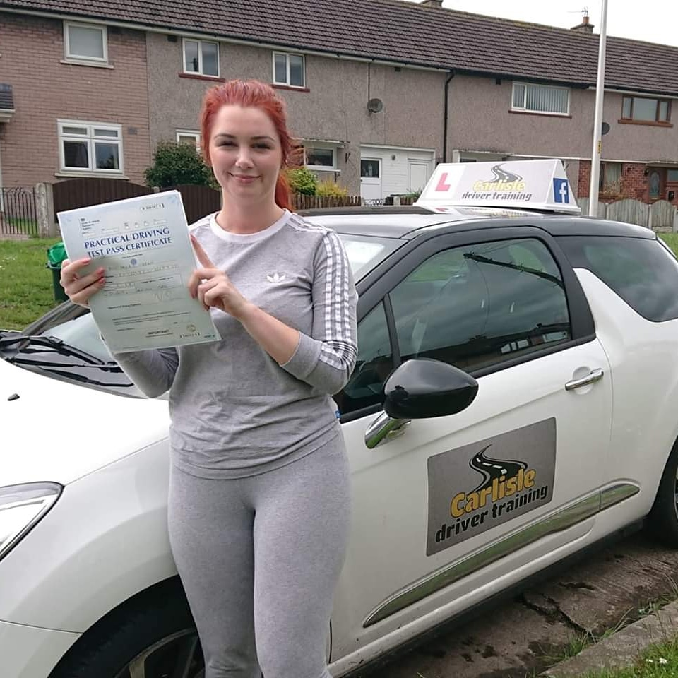 Abigail passed driving test. Driving lessons in Carlisle. Driving instructor Carlisle. Driving school Carlisle
