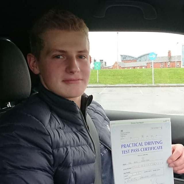 Ben Harrison passed driving test. Driving lessons in Carlisle. Driving instructor Carlisle. Driving school Carlisle