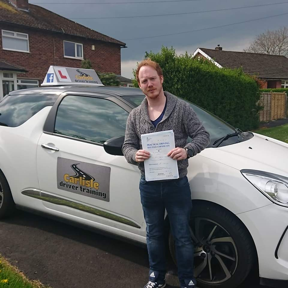 Ben Leighton passed driving test. Driving lessons in Carlisle. Driving instructor Carlisle. Driving school Carlisle