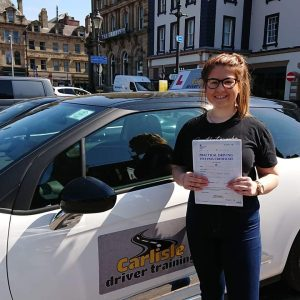 Cameron Ewing passed driving test. Driving lessons in Carlisle. Driving instructor Carlisle. Driving school Carlisle