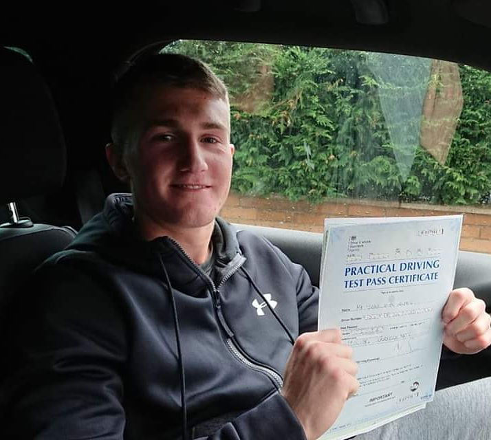 Iassc Holmes passed driving test. Driving lessons in Carlisle. Driving instructor Carlisle. Driving school Carlisle