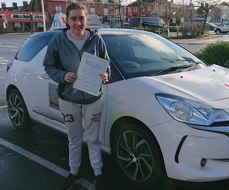 Jodie Blaylock passed driving test. Driving lessons in Carlisle. Driving instructor Carlisle. Driving school Carlisle