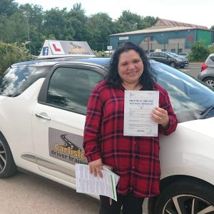 Josilene Deoliveira passed driving test. Driving lessons in Carlisle. Driving instructor Carlisle. Driving school Carlisle