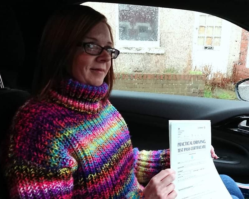 Karen Kidd passed driving test. Driving lessons in Carlisle. Driving instructor Carlisle. Driving school Carlisle