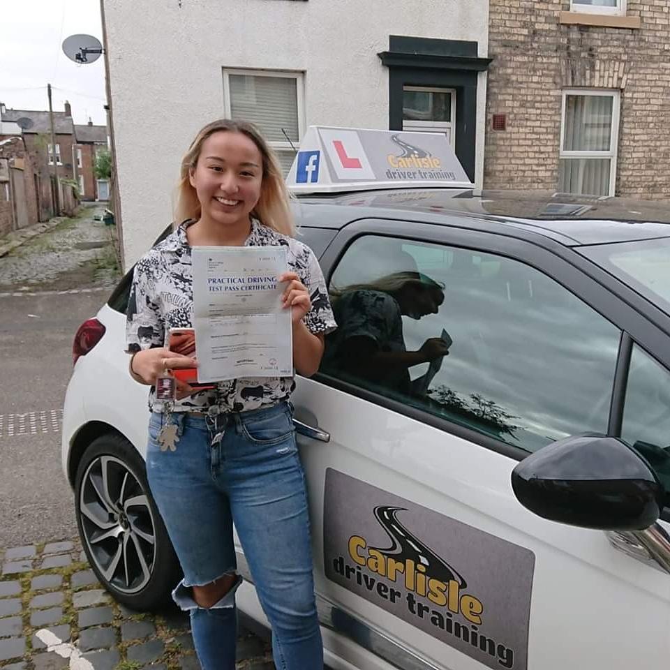 Meloni Thapa passed driving test. Driving lessons in Carlisle. Driving instructor Carlisle. Driving school Carlisle