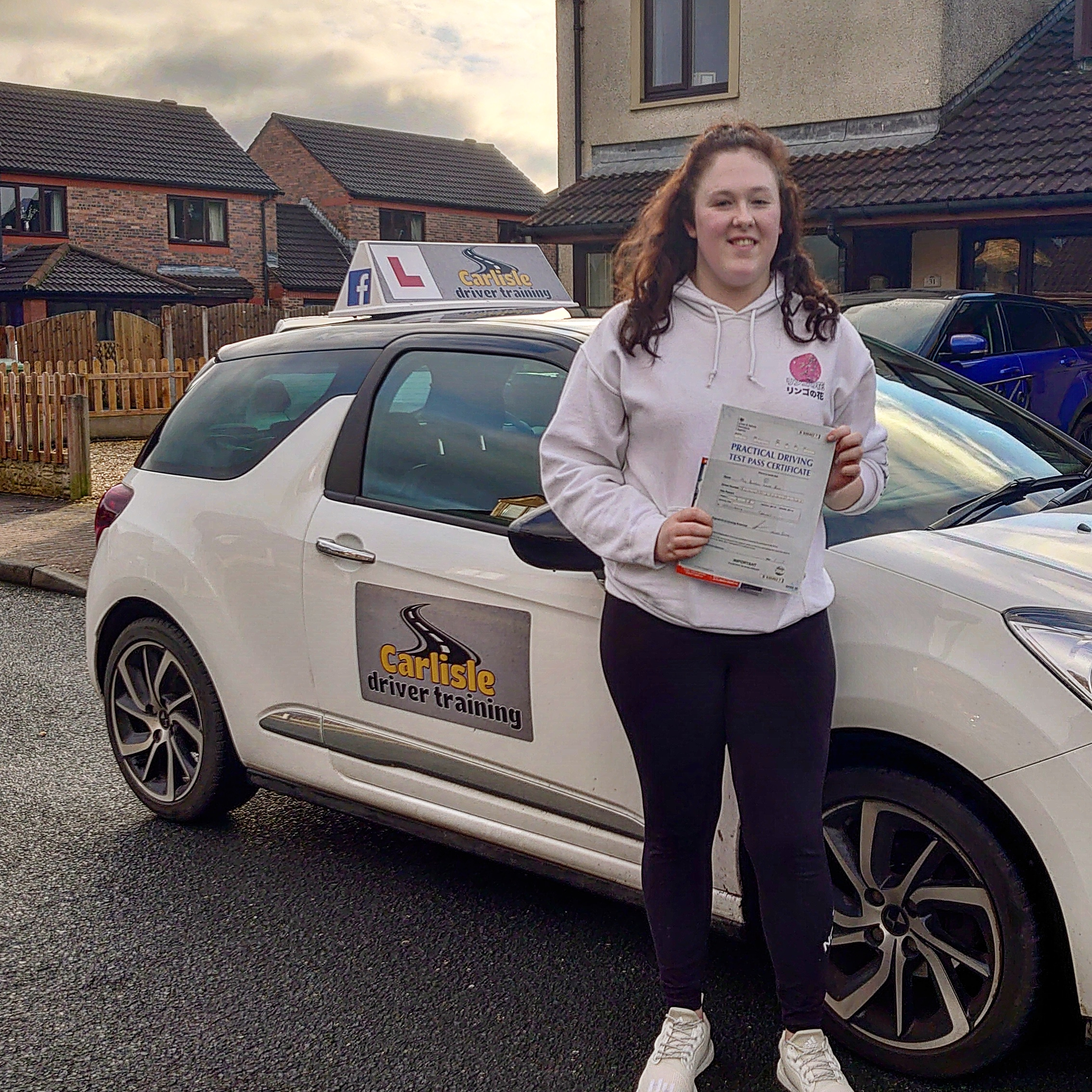 Danielle Bell passed driving test. Driving lessons in Carlisle